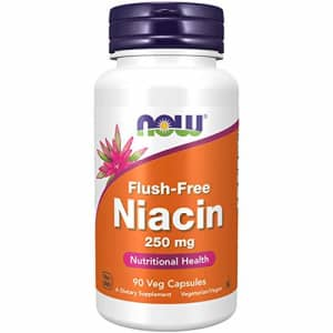 Now Foods NOW Supplements, Niacin (Vitamin B-3) 250 mg, Flush-Free, Nutritional Health, 90 Veg Capsules for $10