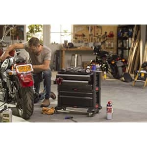 Keter Rolling Tool Chest with Storage Drawers, Locking System and 16 Removable Bins-Perfect for $93