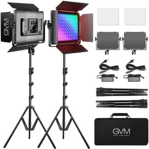 GVM Great Video Maker 45W RGB Video Lighting Kit for $282