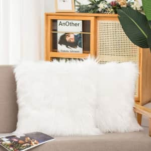 Hyseas Faux Fur Throw Pillow Covers from $8.69
