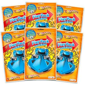 Hot Wheels Party Favors Pack ~ Bundle of 6 Hot Wheels Play Packs Filled with Stickers, Coloring for $18