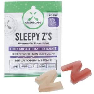Green Roads 50mg CBD Sleepy'z Gummies for $7