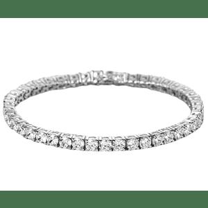 Swarovski Classic Silvertone Tennis Bracelet for $8