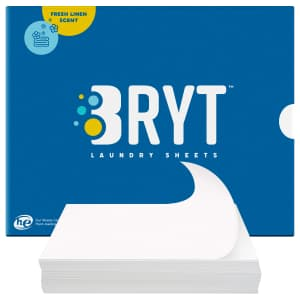 Bryt Eco Friendly Laundry Detergent Sheets 50-Pack for $13