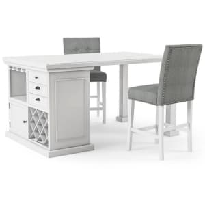 Furniture of America Gavin 3-Piece Kitchen Island Set for $1,250