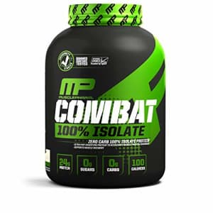 Muscle Pharm MusclePharm Combat 100% Isolate Protein Powder, Vanilla, 5 Pounds, 84 Servings for $180