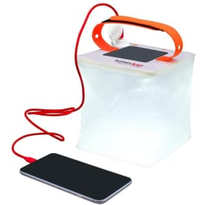 LuminAID PackLite Hero 2-in-1 Portable Solar Phone Charger & Inflatable Lantern for $32