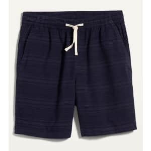 """Old Navy Men's Micro-Stripe Twill 9"""" Jogger Shorts for $13 in cart"""