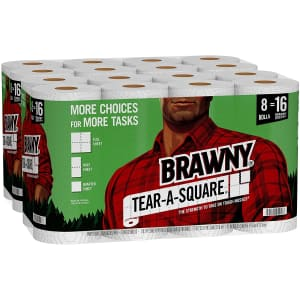 Brawny Tear-A-Square Paper Towel 16-Pack for $28 via Sub & Save