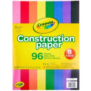 Crayola 96-Sheet Construction Paper Pack for $2