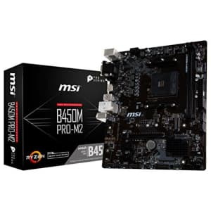MSI ProSeries AMD Ryzen 1st and 2nd Gen AM4 M.2 USB 3 DDR4 D-SUB DVI HDMI Micro-ATX Motherboard for $115