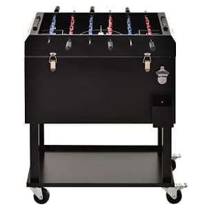 Outsunny 65L Patio Cooler Ice Chest with Foosball Table Top, Portable Poolside Party Bar Cold Drink for $190