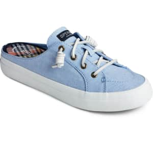 Sperry Women's Crest Vibe Chambray Mule Sneakers for $25