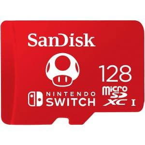 SanDisk 128GB MicroSDXC UHS-I Memory Card for Nintendo Switch for $22