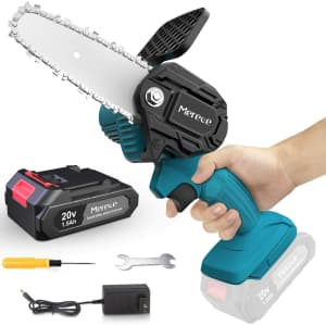 """Merece 4"""" 20V Cordless Electric Chainsaw for $40"""