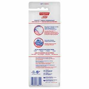 Colgate 360 Total Advanced Floss-Tip Bristles Toothbrush, Soft - 4 Count for $13