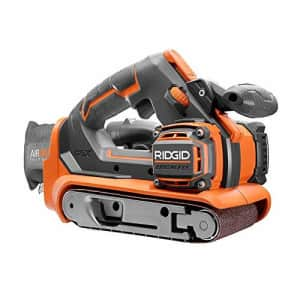 RIDGID 18-Volt GEN5X Cordless Brushless 3 in. x 18 in. Belt Sander (Tool-Only) with Dust Bag and for $123
