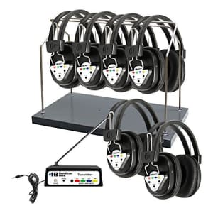 HamiltonBuhl Hamilton Buhl Wireless 6 Person Listening Center with Multi-Frequency Transmitter, Wireless for $403