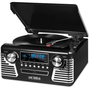 Victrola 50's Retro Bluetooth Record Player for $63