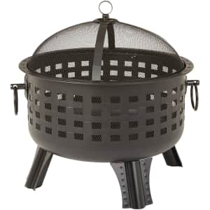 """Amazon Basics 23.5"""" Steel Fire Pit for $109"""