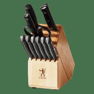 J.A. Henckels Dynamic 12-Piece Wood Block Cutlery Set for $70