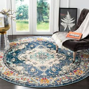 SAFAVIEH Monaco Collection MNC243N Boho Chic Medallion Distressed Non-Shedding Dining Room Entryway for $86