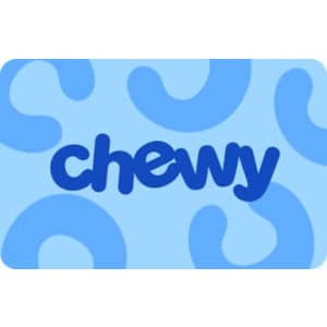 $30 Chewy Gift Card: free w/ $100 purchase