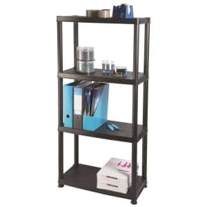 Ram Primo 4-Tier Plastic Storage Shelves for $28