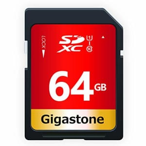 Gigastone 64GB SD Card UHS-I U1 Class 10 SDXC Memory Card High Speed Full HD Video Canon Nikon Sony for $16