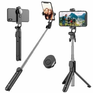 Erligpowht Bluetooth Selfie Stick Tripod for $14