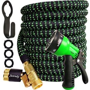 Junredy 25-Ft. Expandable Garden Hose Kit for $16