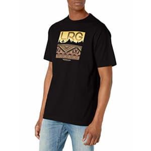 LRG Men's Short Sleeve Logo Design T-Shirt, EL Black, L for $22