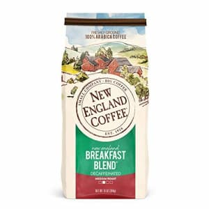 New England Coffee New England Breakfast Blend Decaffeinated Medium Roast Ground Coffee 10 oz. Bag for $5