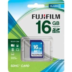 Fujifilm 16 GB SDHC Class 4 Flash Memory Card for $30