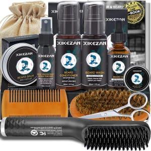 Xikezan Beard Straightener Kit for $19