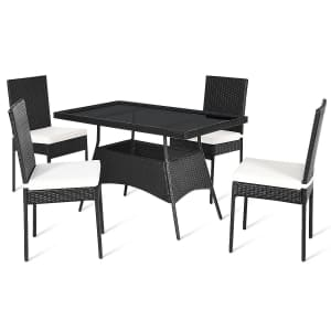 Costway 5-Piece Patio Dining Set for $299