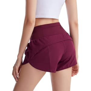 UBFEN Women's Athletic Shorts for $12