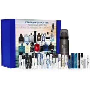 23-Piece Fragrance Favorites Discovery Sampler Gift Set for Him for $20