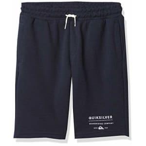 Quiksilver Boys Elastic Waist Fleece, Navy Blazer Easy Day Short Youth, S/10 for $29