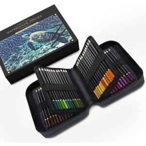 Orionstar 72-Piece Watercolor Pencil Set for $25