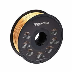 AmazonBasics Silk PLA 3D Printer Filament, 1.75mm, Gold, 1 kg Spool (2.2 lbs) for $25