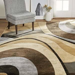 """Home Dynamix Tribeca Slade Modern Area Rug ,Abstract Brown/Gray 5'2""""x7'2"""" for $85"""