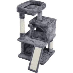"""Yaheetech 35.8"""" Plush Cat Tree and Condo for $43"""