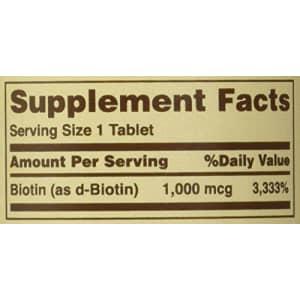 Sundown Biotin 1000 MCG Tablets Value Size, 120 Count for $19