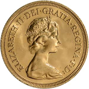Great Britain Elizabeth II Laureate Gold Sovereign Coin for $445