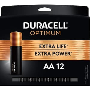 Duracell Optimum AA or AAA Battery 12-Pack for $9.46 via Sub & Save