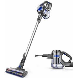 Moosoo Cordless Vacuum 10Kpa 4 in 1 Stick Vacuum for $70