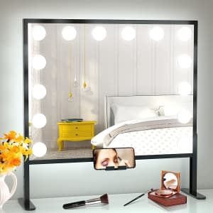 Bestope Hollywood Vanity Mirror with LED Lights for $70