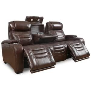 "Raylander 89"" Leather Power Reclining Sofa w/ USB for $1,529"