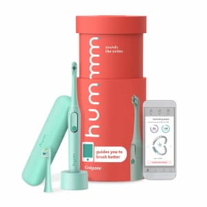 hum by Colgate Smart Rechargeable Electric Toothbrush Kit for $56